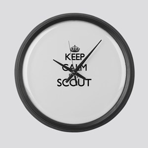 Keep calm I'm a Scout Large Wall Clock