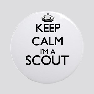 Keep calm I'm a Scout Ornament (Round)