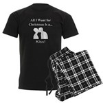 Christmas Kiss Men's Dark Pajamas