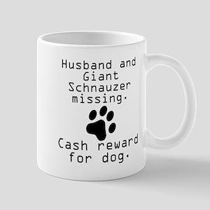 Husband And Giant Schnauzer Missing Mugs