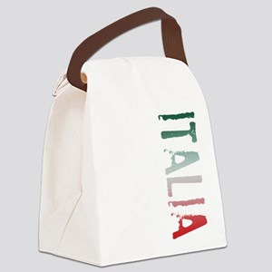 Italia Stamp Canvas Lunch Bag