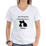 Christmas Kiss Women's V-Neck T-Shirt