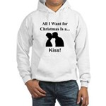 Christmas Kiss Hooded Sweatshirt