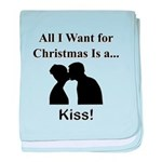 Christmas Kiss baby blanket