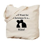 Christmas Kiss Tote Bag