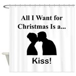 Christmas Kiss Shower Curtain