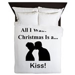 Christmas Kiss Queen Duvet