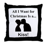 Christmas Kiss Throw Pillow