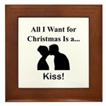 Christmas Kiss Framed Tile