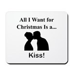 Christmas Kiss Mousepad
