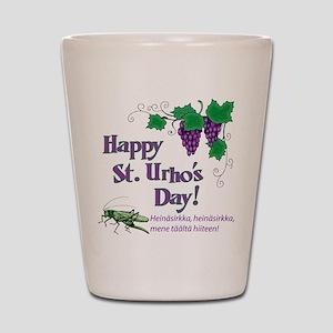 Happy St. Urho's Day Shot Glass
