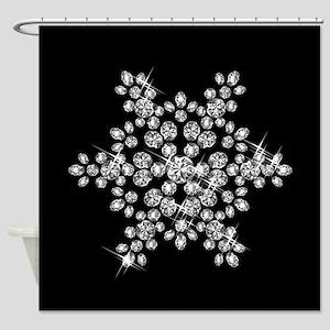 DIAMOND SNOWFLAKE Shower Curtain