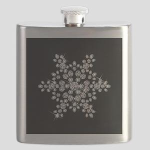 DIAMOND SNOWFLAKE Flask