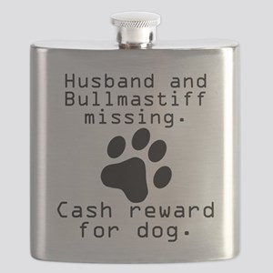 Husband And Bullmastiff Missing Flask