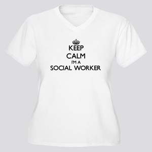Keep calm I'm a Social Worker Plus Size T-Shirt