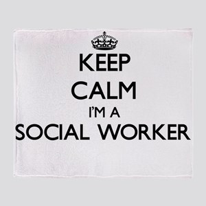 Keep calm I'm a Social Worker Throw Blanket