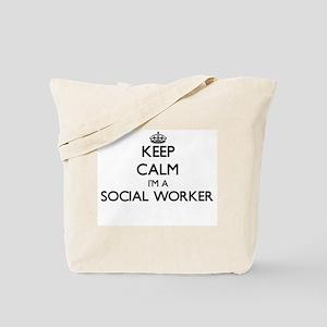 Keep calm I'm a Social Worker Tote Bag