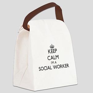 Keep calm I'm a Social Worker Canvas Lunch Bag