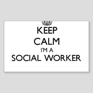 Keep calm I'm a Social Worker Sticker