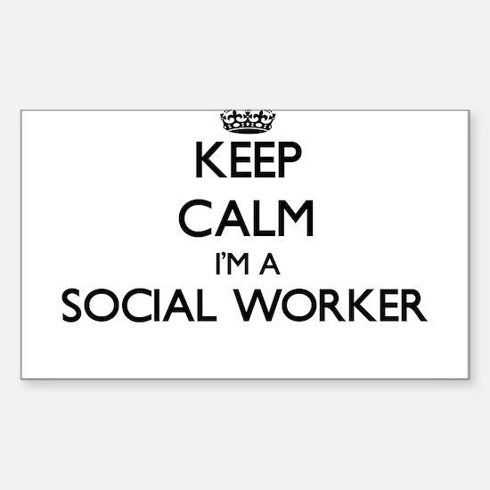 Keep calm I'm a Social Worker Decal