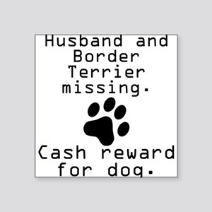 Husband And Border Terrier Missing Sticker