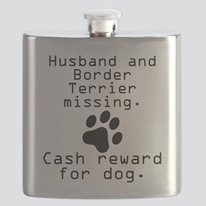 Husband And Border Terrier Missing Flask