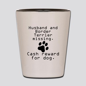 Husband And Border Terrier Missing Shot Glass