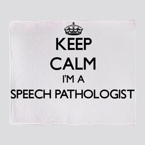 Keep calm I'm a Speech Pathologist Throw Blanket