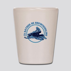 I'd Rather Be Snowmobiling Shot Glass
