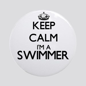 Keep calm I'm a Swimmer Ornament (Round)
