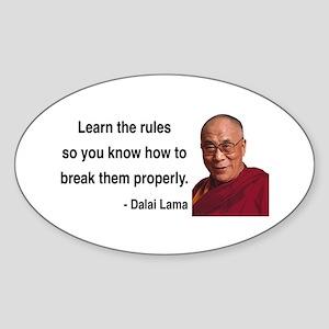 Dalai Lama 11 Oval Sticker