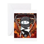 Natures Ninjas Emblem Greeting Cards