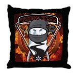 Natures Ninjas Emblem Throw Pillow