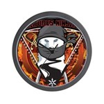 Natures Ninjas Emblem Wall Clock