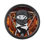 Natures Ninjas Emblem Large Wall Clock