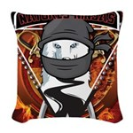 Natures Ninjas Emblem Woven Throw Pillow