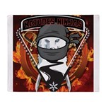 Natures Ninjas Emblem Throw Blanket