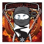 Natures Ninjas Emblem Square Car Magnet 3