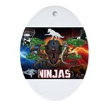 Natures Ninjas Fire & Ice Ornament (Oval)