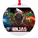 Natures Ninjas Fire & Ice Ornament