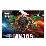 Natures Ninjas Fire & Ice Postcards (Package of 8)