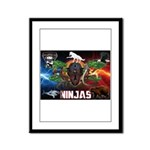 Natures Ninjas Fire & Ice Framed Panel Print