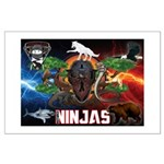 Natures Ninjas Fire & Ice Posters
