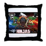 Natures Ninjas Fire & Ice Throw Pillow