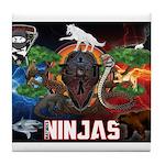 Natures Ninjas Fire & Ice Tile Coaster