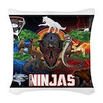 Natures Ninjas Fire & Ice Woven Throw Pillow