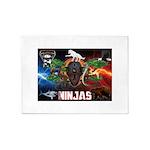 Natures Ninjas Fire & Ice 5'x7'Area Rug