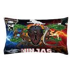 Natures Ninjas Fire & Ice Pillow Case