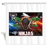 Natures Ninjas Fire & Ice Shower Curtain