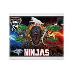 Natures Ninjas Fire & Ice Throw Blanket
